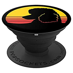 Retro Standard Poodle Mom Caniche Dog Lovers Gift PopSockets Grip and Stand for Phones and Tablets 1