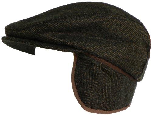 dee1a495bdcd4 Broner Mens Wool Herringbone Newsboy product image