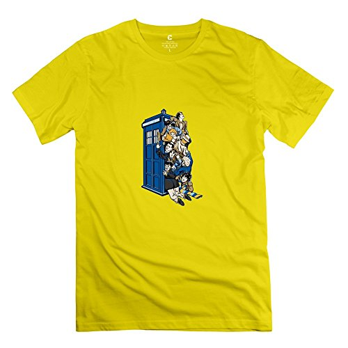 Jiuzhou Men's Tshirt Doctor Who M Yellow ()