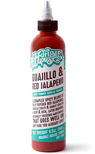 (Humble House Guajillo and Red Jalapeno Sauce - Aged Tangy Garlic Sauce - A complex mix of red jalapenos, guajillo chiles and garlic - Perfect for Chicken wings, hummus, pork ribs, spring rolls, nachos)
