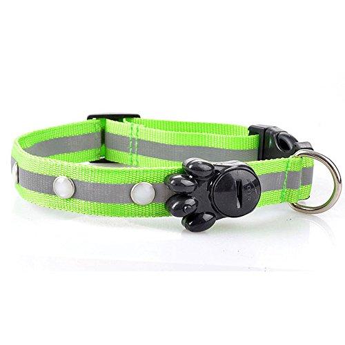 Hpapadks Light with Gemstones Pet Collar, Flashing Glow Gem Light LED Pet Dog Collar Adjustable Luminous Cheap Dog Supplies ()