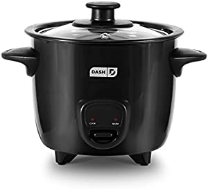 Dash DRCM200BK Mini Rice Cooker Steamer