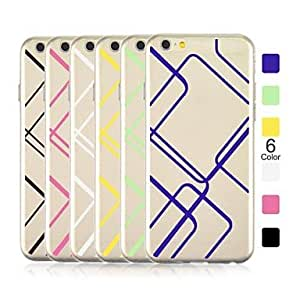 SHOUJIKE Angibabe 0.3mm Ultra-thin TPU Large squares Pattern Case Cover for iPhone 6 (Assorted Color) , Yellow