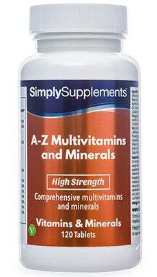 A-Z Multivitaminas y minerales - Con 31 nutrientes principales ...