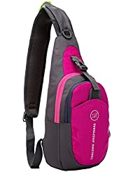 Shoulder Backpack, Casual Cross Body Bag Outdoor Sling Bag Chest Pack with Adjustable Shoulder Strap for Cycling...