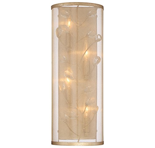Minka Lavery Minka 4433-252 Transitional Four Light Wall Sconce from Sara`S Jewel Collection in Gold, Champ, Gld Leaffinish S