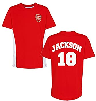 b233044e5 Offical Arsenal FC Personalised Name and Number T-Shirt Children's T-Shirt  Arsenal Football Fan Offical Club Training Top (2-3 Years): Amazon.co.uk:  Baby