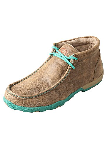 Twisted X Women's Turquoise Driving Mocs Bomber 7 M US