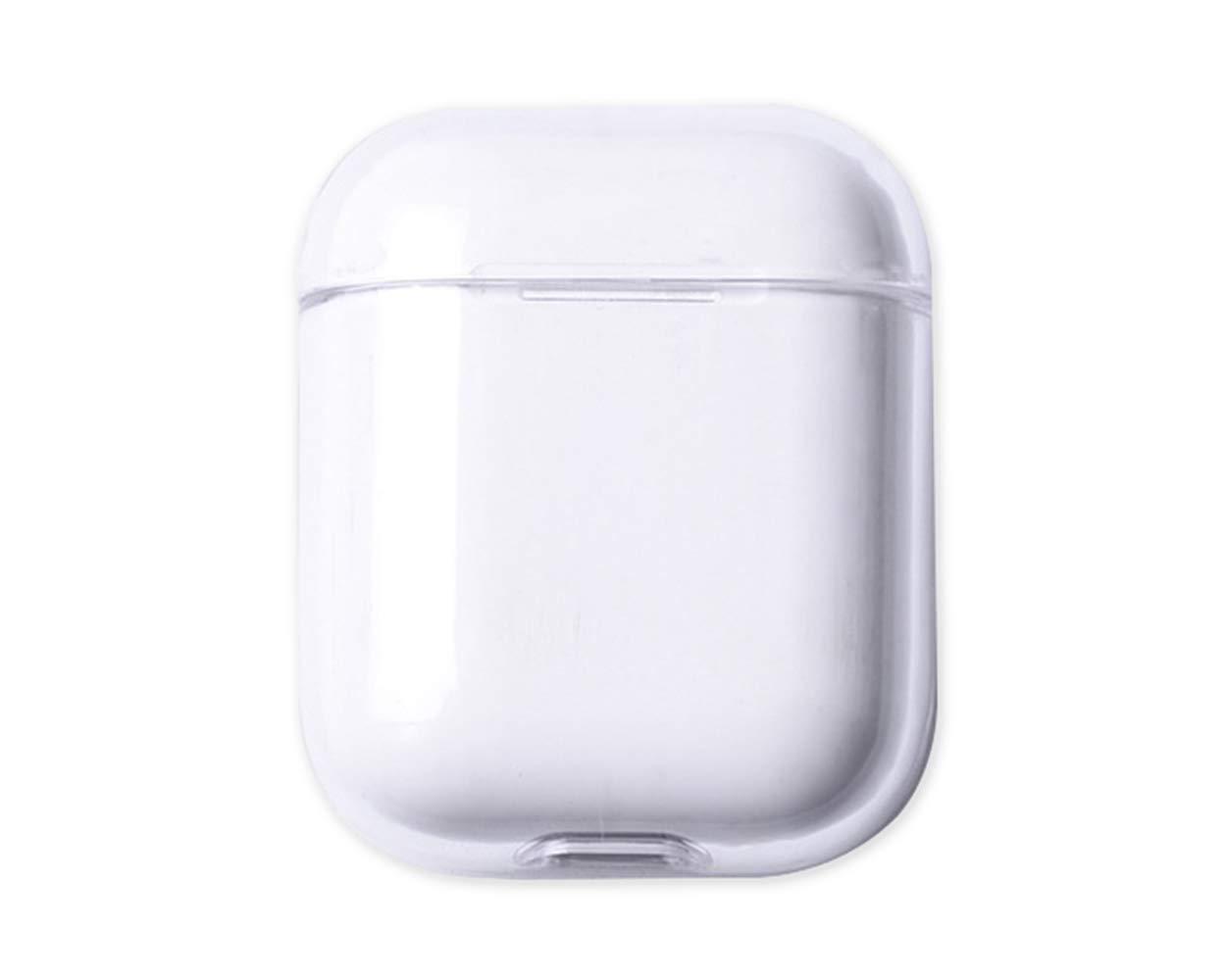 Funda Protectora de PC Compatible con AirPods 1 y 2 Transparente Slim Hard Shell Protege su AirPods Case de ara/ñazos