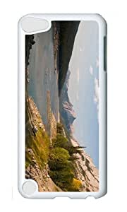 Ipod 5 Case,MOKSHOP Adorable lake mountain scenery Hard Case Protective Shell Cell Phone Cover For Ipod 5 - PC White