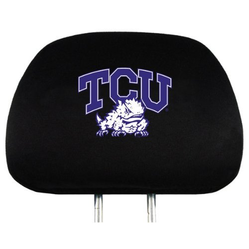 Ncaa Covers Headrest (NCAA TCU Horned Frogs Head Rest Cover, 2-Pack)
