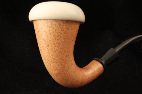 Hand Made Meerschaum Calabash Pipe - Sherlock Holmes Style - Mahogany Wood - Meerschaum Insert Bowl - Smoking Pipe - Medium (Sherlock Style Pipe)