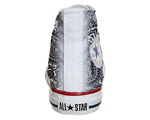 Star Personalizzate Artigianale Tutte Scarpe Elegante Unisex Personalizzati Paisley prodotto Italiano Converse Hi Le Stampati Sneaker qXpwqAH4