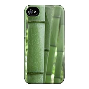 Hot Snap-on Green Bamboo Hard Cover Case/ Protective Case For Iphone 4/4s
