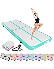 SK DEPOT Inflatable Yoga Track Inflatable Gymnastic Mattress 10ft x 3.4ft x 0.3ft Artistic Gymnastics Tumbling Track Mat Indoor Outdoor Thickness Air Track for Gym Home Indoor Outdoor Training Gymnastic Mat
