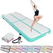 SK DEPOT Inflatable Yoga Track Inflatable Gymnastic Mattress 10ft x 3.4ft x 0.3ft Artistic Gymnastics Tumbling