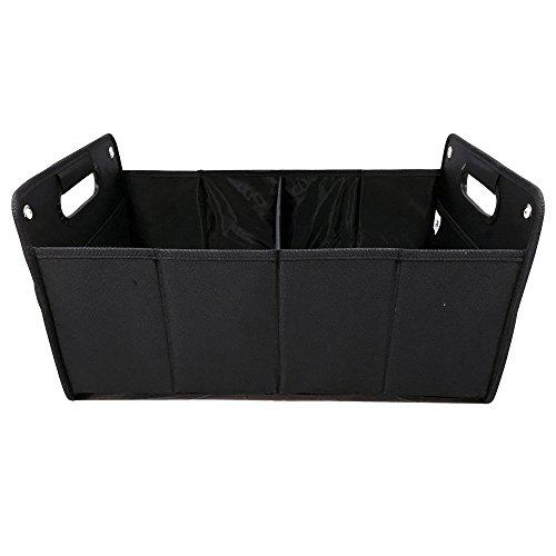 Kofferraumtasche aus Polyester mit stabilem Boden (schwarz - neutral) - Klappbox Kofferraumbox Faltbox Organizer Autobox Tasche Auto Kofferraum Zubehör CB Präsentwerbung GmbH