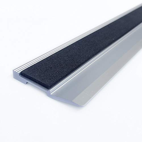 Innove Aluminium Ruler Anti-Slip for Cutting and Crafting, 1 Bevelled Side 1 Plain Side (30cm)