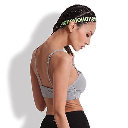 Qosow Sujetadores Deportivos para Mujer Sujetador Deportivo de Yoga Verano imitando sin Rueda de Acero Corriendo