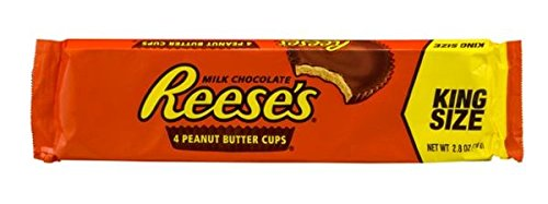 Reese's 4 Peanut Butter Cups King Size 2.8 oz. (Pack of 6 - 24 TOTAL Cups)