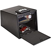 """Snapsafe 2-Gun Keypad Vault for Pistols and Revolvers, Black 75430, Programmable and TSA & CA DOJ Approved, Measures 12.7"""" W x 9.0""""H x 8.8"""" D"""