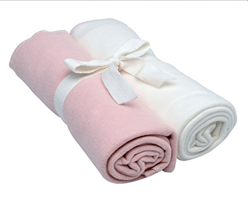 Nile The Cotton Blankets Under - Under the Nile Swaddle Blankets 2-Pack in Blush and Off-White