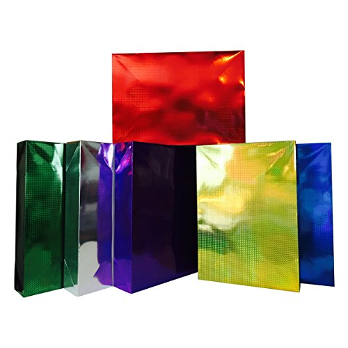 Extra Large Gift Boxes + Tissue Paper, for Blanket, Coat (6 XL Boxes + Tissue, Multicolor)