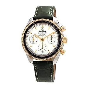 Omega Speedmaster 324.28.38.50.02.001 - Reloj automático de Piel para Hombre, Esfera Plateada 3
