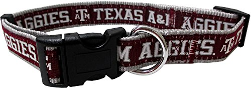 Pets First Collegiate Texas A&M Aggies Pet Collar, Medium