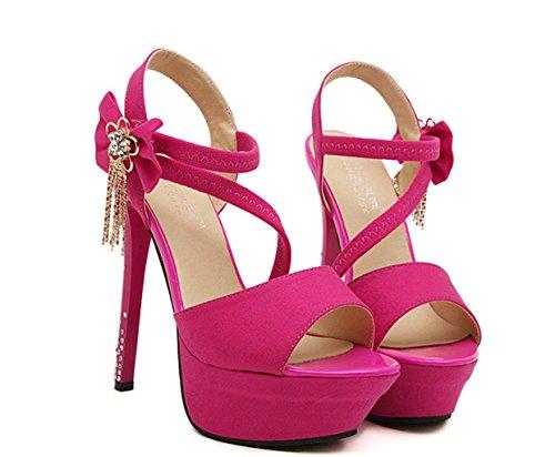 Des Party Heels Damen Lace HETAO Red Blumen High Strap Up Rhinestones Clear Womens Mädchens Girls Schuhgröße Lange Mode Geschenk Persönlichkeit Perspex qRpWUqZC