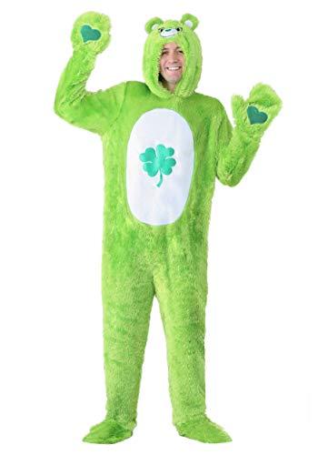 Care Bears Adult Classic Good Luck Bear Costume Medium Green -