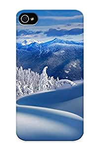 Standinmyside 8e3388e1979 Case Cover Iphone 4/4s Protective Case Mountains Nature Winter Snow Trees ( Best Gift For Friends)