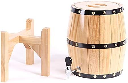 Yuaty Envejecimiento Roble Whisky Barril para El Almacenamiento O Envejecimiento del Vino Whisky Bourbon Cerveza Ron Tequila,5l