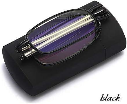 折りたたみ式老眼鏡、スタイリッシュなリーダー、男性用の紫外線防止コンピューターメガネ、メガネケース付き