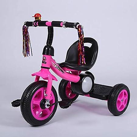Triciclo para niños, bicicleta para bebés con música Pedal de luz Coche adecuado para bebés de 2 a 5 años,Pink: Amazon.es: Hogar