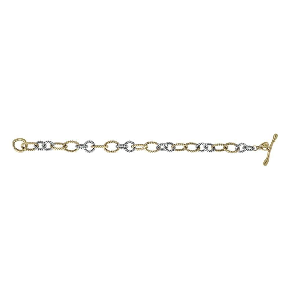 Wax Poetic Large Brass & Silvertone Link Connection Bracelet - Large by Wax Poetic (Image #2)