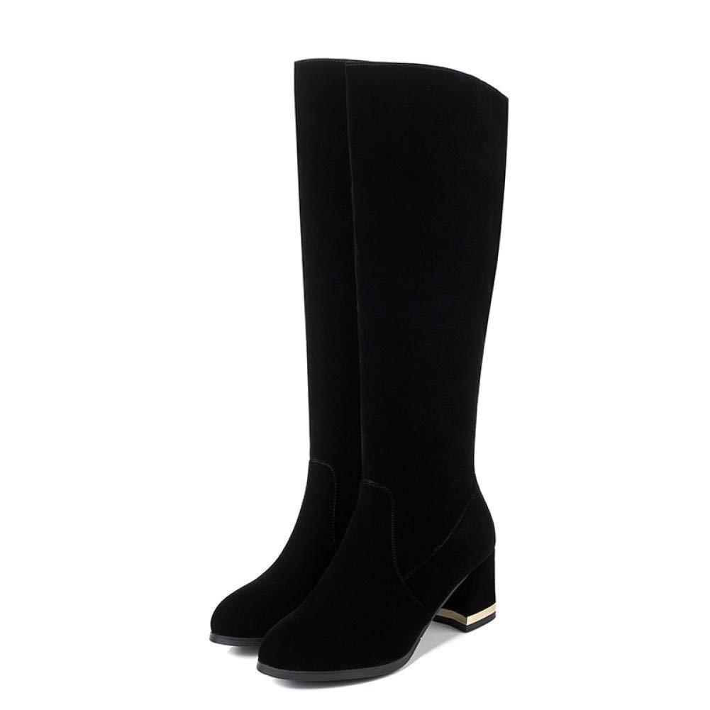 Ai Ya-xuezi Damen Schuhe High Heels Heels Heels Schuhe Winter Stiefel Kurze Stiefel Square Heels Herde Herbst Schuhe Größe 34-43 8268b3