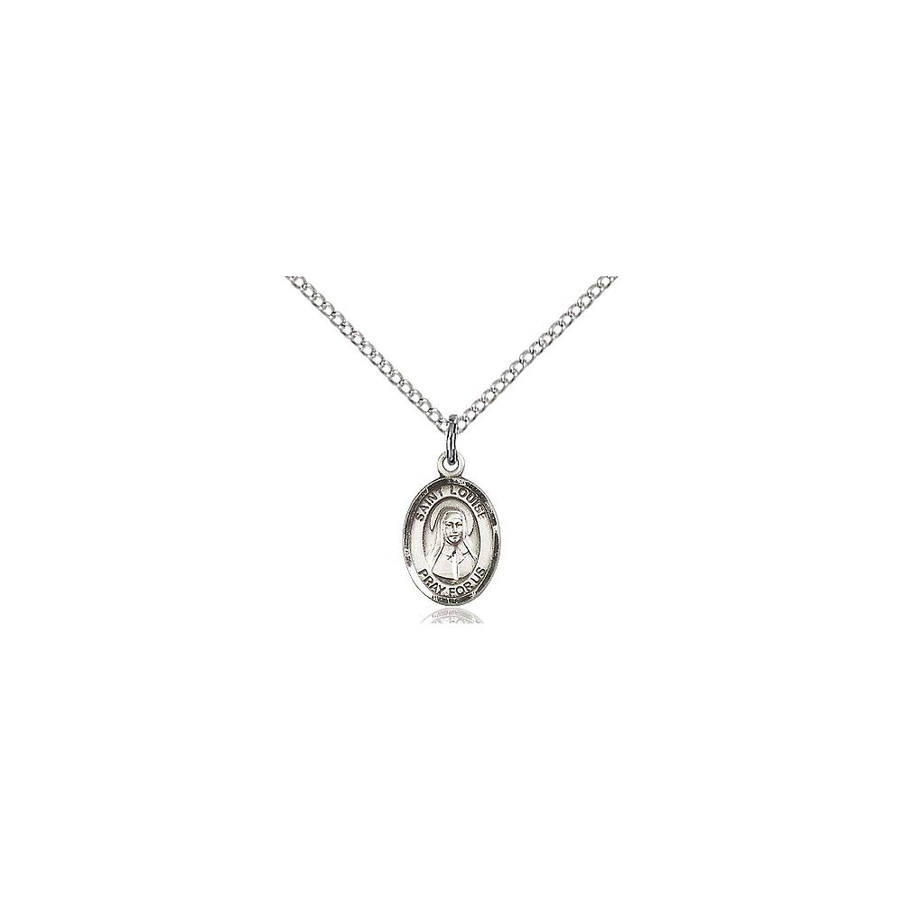 DiamondJewelryNY Sterling Silver St Louise Pendant