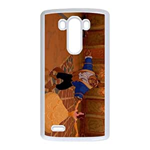 LG G3 Cell Phone Case White Beauty and the Beast Character Beast djn