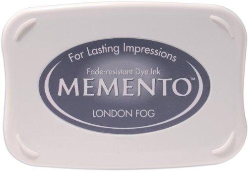 Stazon Ink Gray - Tsukineko Full-Size Memento Fade Resistant Inkpad, London Fog