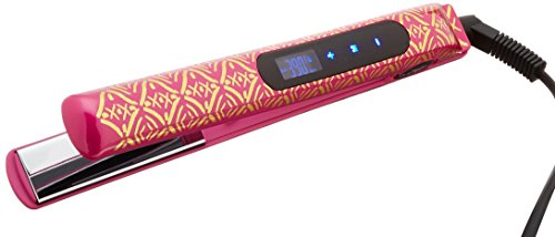 CHI Smart Gemz Volumizing Zirconium Titanium Rhodolite Metallic Foil 1 Inch Hairstyling Iron With 3/4 Inch Travel Iron, Hair Clips and Thermal Pouch, Rhodolite Metallic by CHI (Image #1)