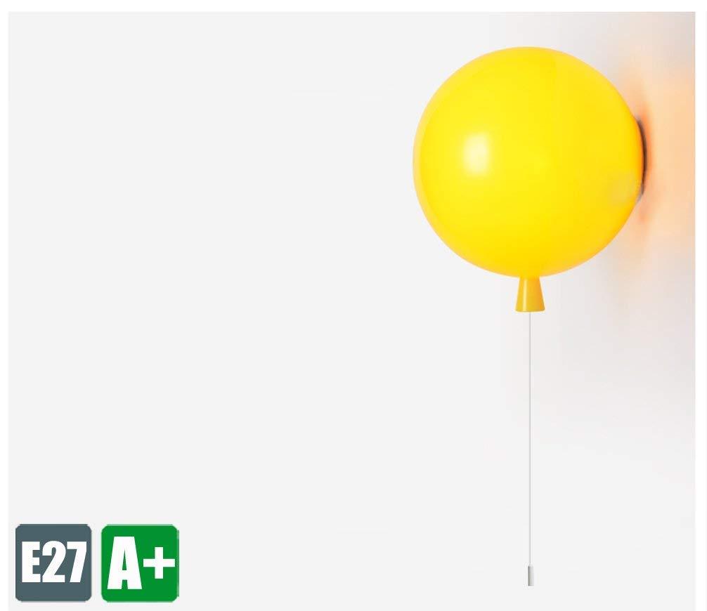 Modern WandLeuchte Kinder zimmer Kreative WandLampe Ballons Design Innenbeleuchtung Dekoration Beleuchtung Einfaches Sconce Schön Schlafzimmer Leuchte Korridor Lampe Acryl lampenschirm 1E27 (Gelb)