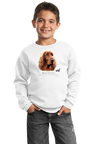 Setter Youth Sweatshirt - Irish Setter Youth Sweatshirt - Eye Catching
