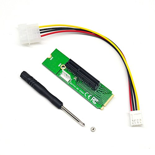 SUNKEE 2017 New Male To Female NGFF M2 M.2 to PCI-E 4x 1x Slot Riser Card Adapter PCIE Multiplier For BTC Miner Mining Machine