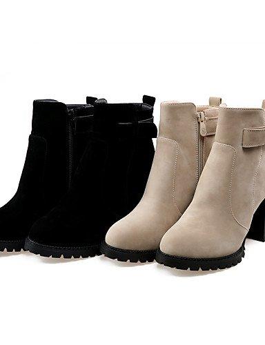 Cn41 Zapatos Redonda Punta Eu40 Negro Mujer Botas Uk5 Cn38 Casual De 5 us7 A Black La Tacón Uk7 Moda Xzz 5 us9 Robusto Beige Eu38 Beige Vestido Vellón RnfYxqdXw