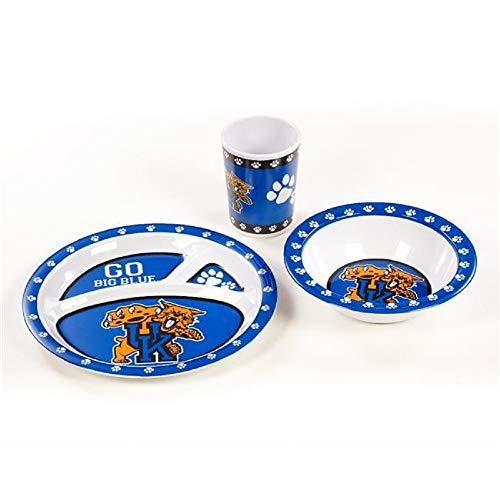 (BSI NCAA Kentucky Wildcats Kentucky Wildcatskid's 3 pc. Dish Setkentucky Wildcatskid's 3 pc. Dish Set, Multi)