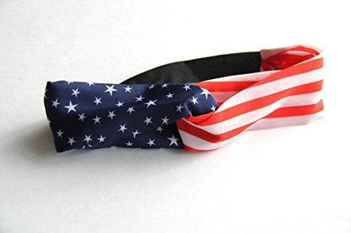 American Flag Headband, USA Headband, America Headband, USA Turban, American Flag Head Wrap, Us Headband, 4th of July, Usa World Cup