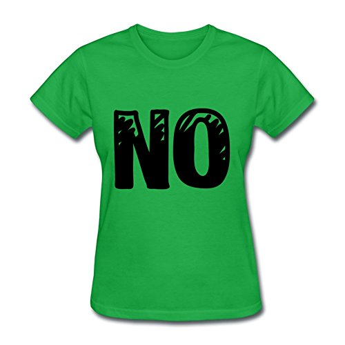 Lightweight Fashionalble Designed T Shirt Cotton No X-small Women Green ()