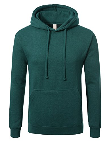 (JD Apparel Men's Premium Heavyweight Pullover Hoodie Sweatshirt M Cyan Caviar)
