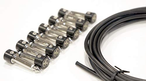 Solderless Guitar Pedal Patch Cable Kit 6 Pack to Make Custom Length Cables for Pedalboard